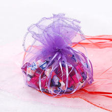 Мешочки для ювелирных изделий из органзы с блестками