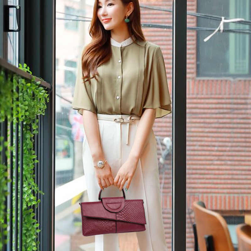 Bolso de mano de cuero para mujer, bolso de hombro pequeño con diseño de cocodrilo a la moda, bolsos de mensajero para mujer, Bolso tipo sobre cruzado, pocheta para mujer