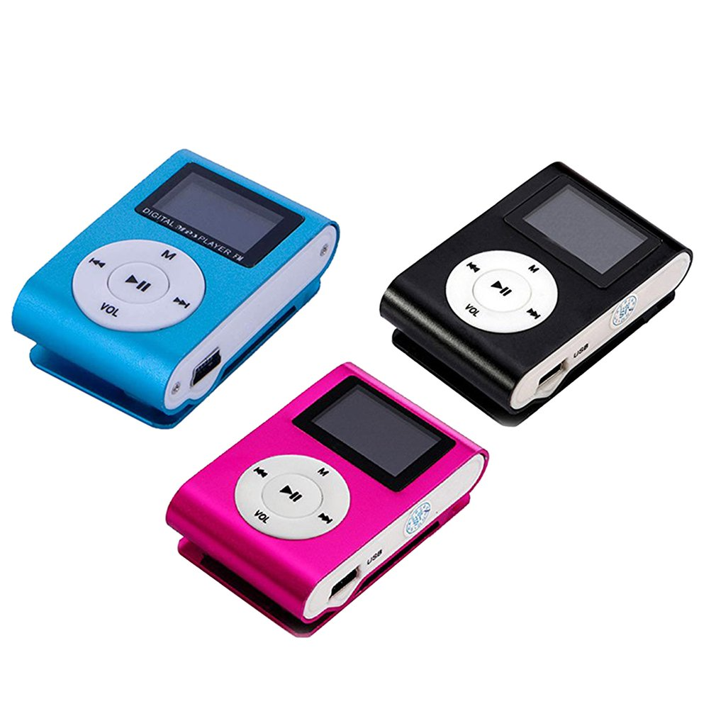 Metal Clip Digital Mini MP3 Player With 1.8 Inch LCD Screen Support TF Card USB 2.0 With 3.5mm Headphone Jack