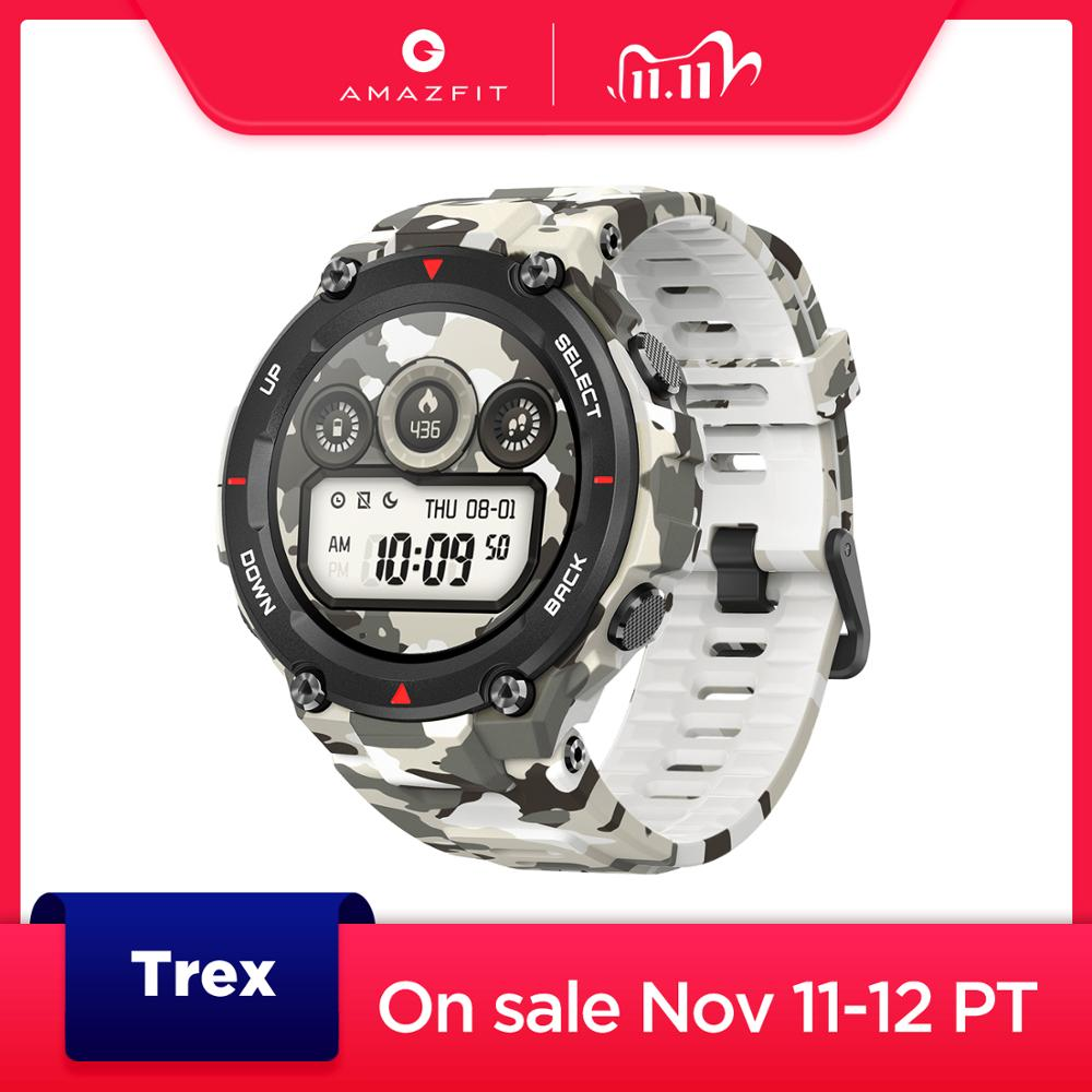 New 2020 CES Amazfit T-rex T rex Smartwatch AMOLED Display Smart Watch GPS GLONASS 20 Days Battery for iOS Android