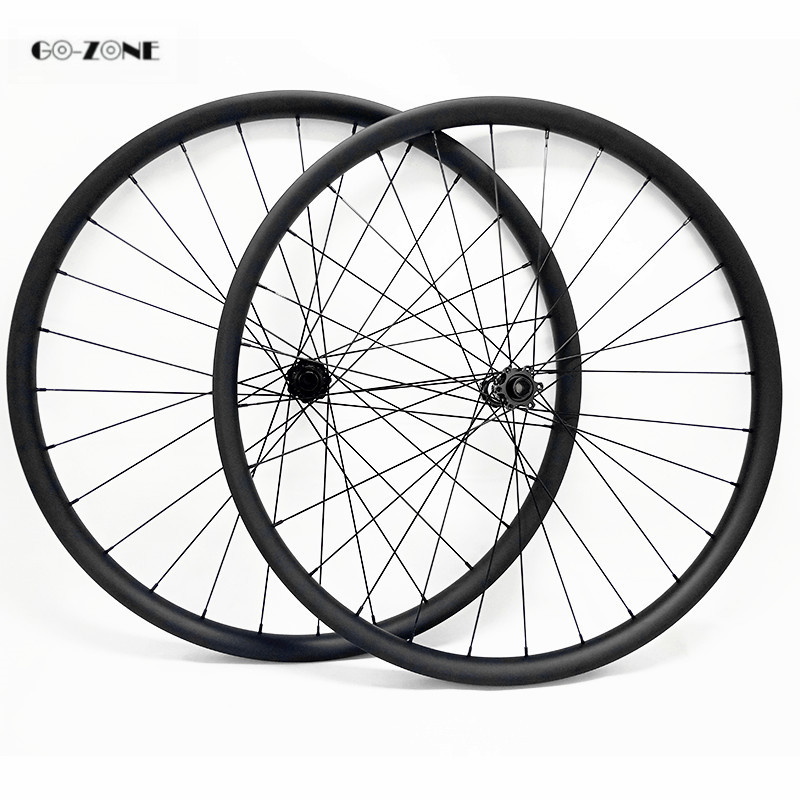 Ultralight 27.5er 27mmx25mm tubeless MTB carbon wheels  DT350s boost /100x15mm 142x12mm thru axle disc mountain bicycle wheelset