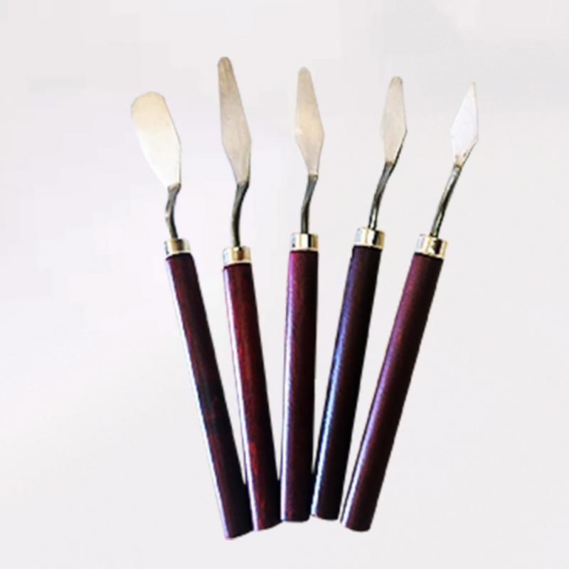 Профессиональная лопаточка из нержавеющей стали Искусство Набор масло для инструмента Гибкая живопись набор лезвия тонкий нож Палитра 5 шт