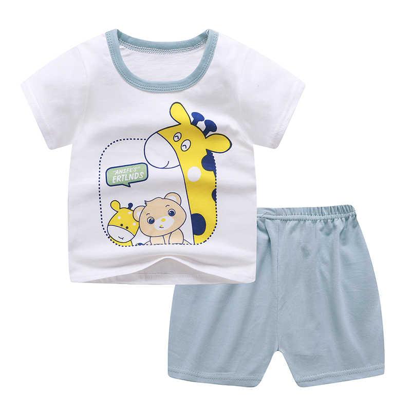 ZukoCertเด็กเสื้อยืดฤดูร้อนชุดผ้าฝ้ายชุดเด็กเสื้อผ้ากางเกงUnisex O-Neckชุดเด็กทารกชุดเด็กแฟชั่นชุด