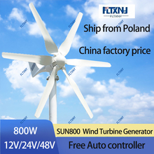 Wind-Turbine Controller MPPT Small Free 6-Blades Home-Use 48V 800W with And