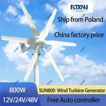 Turbina eólica pequena do controlador 48v mppt de 800w 48v com 6 lâminas e livre para o uso doméstico