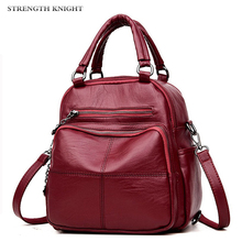 New Woman Backpack Leather Brands Female Backpacks High Quality Schoolbag Backpack Elegant Mochila Mujer Luxury Backpacks dicool high quality pu leather backpack school travel bag backpack women famous brands backpack bolsos mujer vintage backpacks page 5