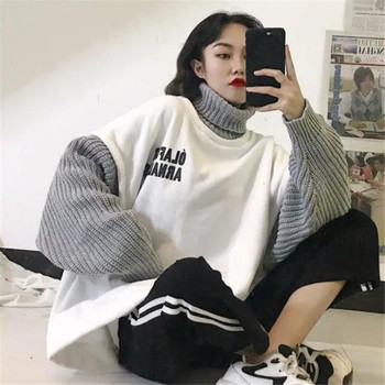 Japan All-match Autumn Beauty Long female casual loose Women Spring Sweater Girls ladies coat jumper Ladies Fashion Sweater 2