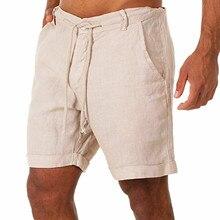 Брюки JAYCOSIN мужские с карманами, повседневные шорты на пуговицах, хлопково-льняные Бермуды для бодибилдинга и бега, весна