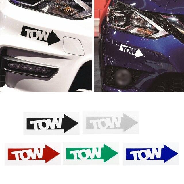 1 PC ใหม่ Auto TOW Hook Arrow Decal สติกเกอร์รถไวนิล Race Drift Stance Illest 240sx TRACK