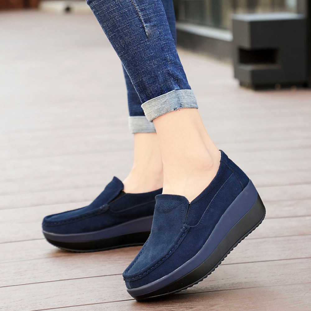 Women's Breathable Flat-With Sneakers Casual Sports Shoes Thick-Soled Shoes Women Shoes Ankle Shoes