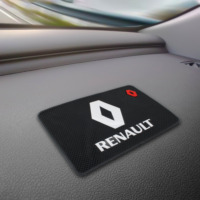 Car Anti Slip Pad Silica Gel Sticky Pad Dashboard Mobile Phones Shelf Non-slip Mat Cushion For Renault Duster Logan Clio Fluence