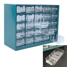 Boîte à outils en plastique, tiroir à 25 treillis, boîte de rangement d'outils, quincaillerie, vis murales, classification des pièces, boîte de composants