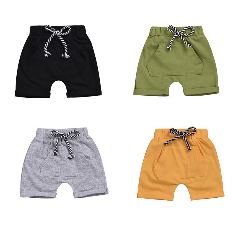 Casual Baby Cotton Shorts Fashion Summer Children Boys Short Casual Pants Trousers Kids Knee Length