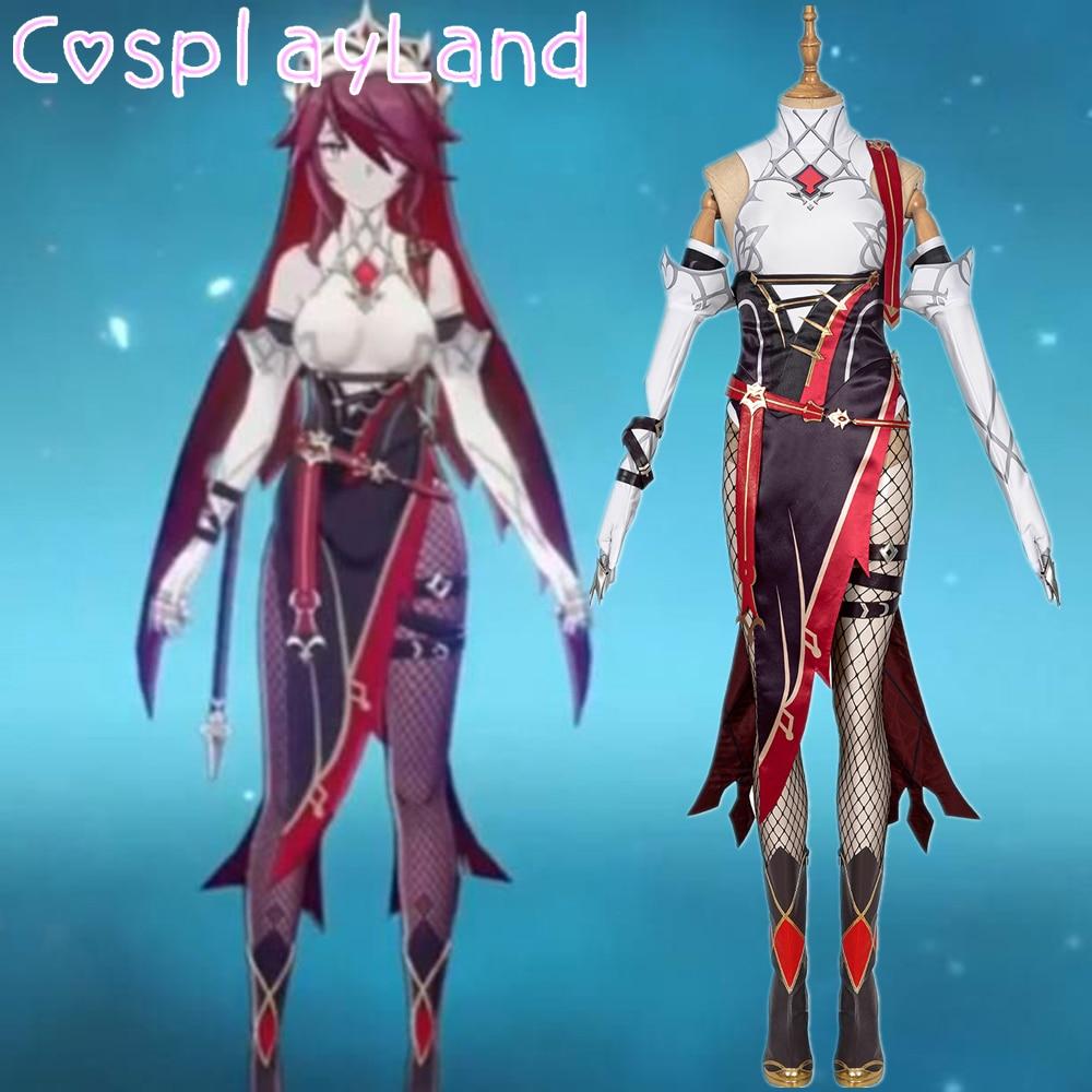 Spiel Genshin Auswirkungen Rosaria Cosplay Kostüm Karneval Halloween Sexy  Kleid Frauen Outfit Requisiten Genshin Auswirkungen Kostüme Overall