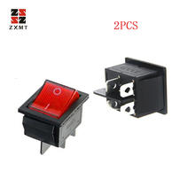 ZXMT 2 Pcs Rocker Switch DPST ON/OFF Toggle 16 Amp 250v 20 Amp 125v 4 Pin Ec-2604 NEW Latching Rocker Switch Power Switch plastic shell 2 position on off dpst 4 pin terminal snap in rocker switch