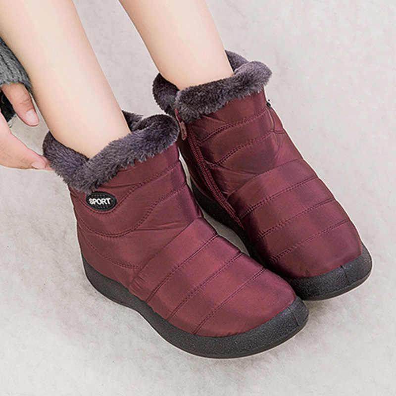 Yeni Kış kadın Botları Antiskid Alt Ayakkabı Kadın Kış Sıcak Kürk Kar yarım çizmeler Aşağı Sıcak Tutmak Çizmeler Patik Botas mujer