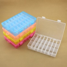 24 Grid Tool Box 190*130*36mm Colorful Plastic Storage Box For Jewelry Storage Electronic
