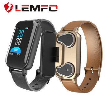 LEMFO T89 New HD Smart Watch Men With Bluetooth Earphone Women Smart Watch IP67 Support Siri BT Call Fitness Bracelet Smart Bracelet
