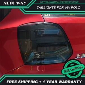 Image 2 - Kiểu Dáng Xe Đuôi Đèn Dành Cho VW Polo Đèn Hậu 2011 2017 Polo Họa Tiết Rằn Ri Nét Ta 016RAR Led Đuôi Đèn Polo Đèn Hậu Phía Sau thân Cây Đèn
