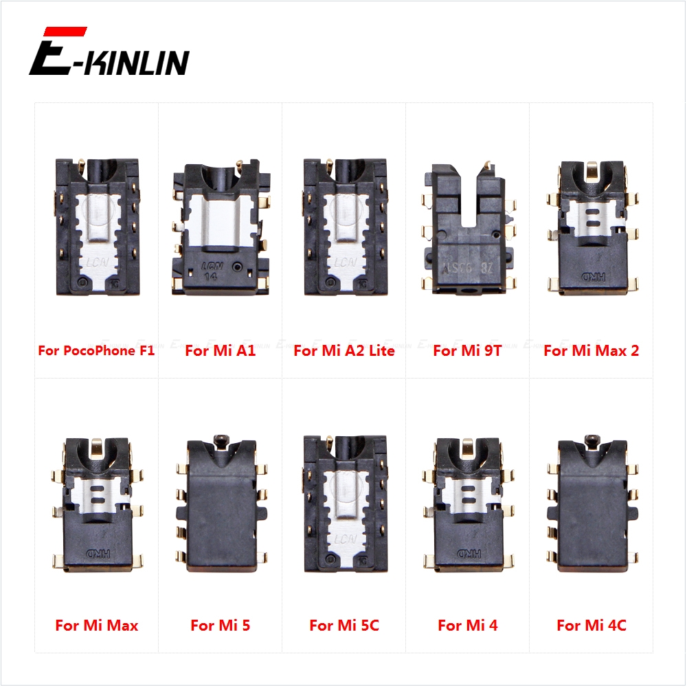 Headphone Jack Ear Earphone Audio Flex For XiaoMi PorcoPhone F1 Mi A1 A2 Lite 9T Pro Max 2 5X 5C 5 4C Port Connector Parts