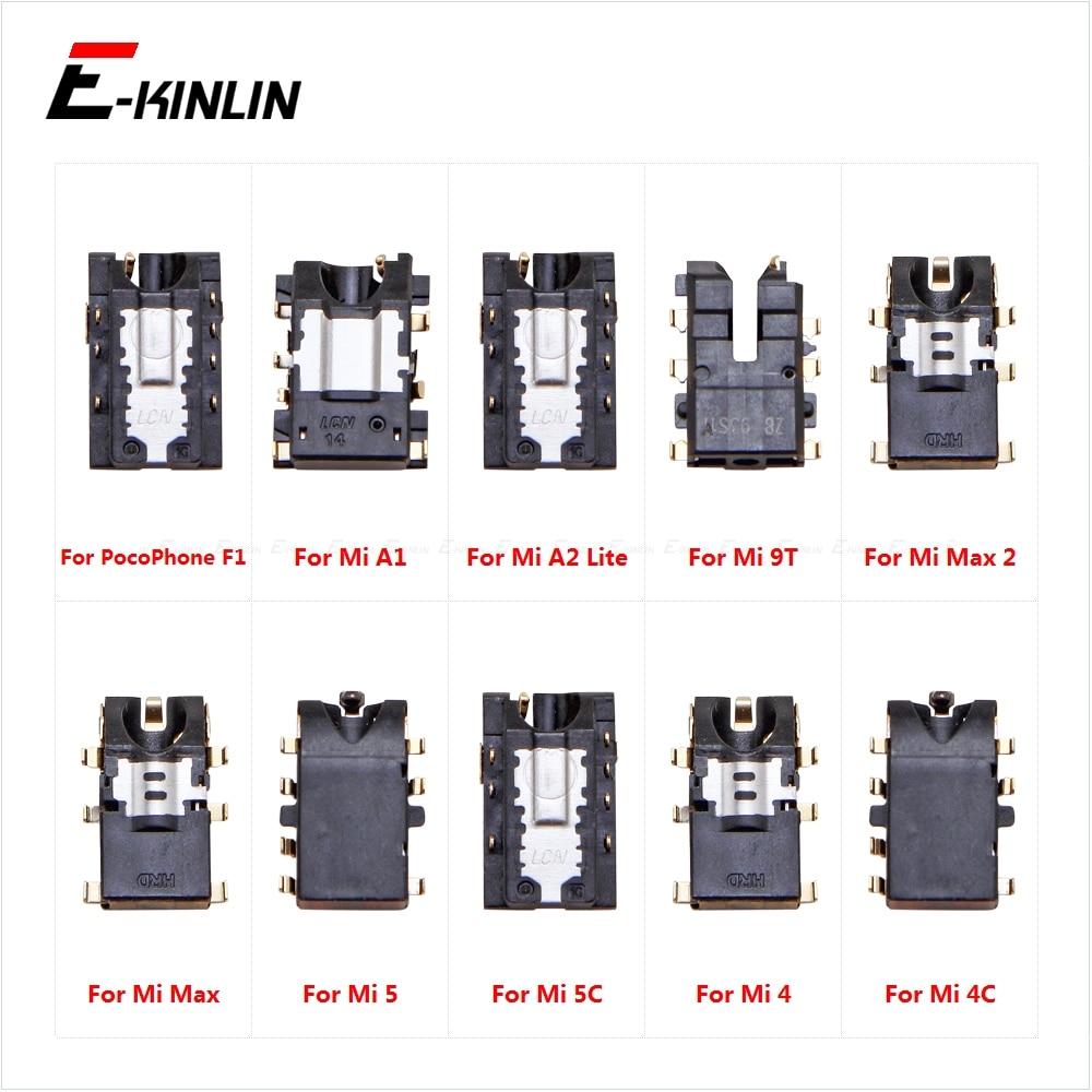 Headphone Jack Ear Earphone Audio Flex For XiaoMi PorcoPhone F1 Mi A1 A2 Lite 9T Pro Max 2 5X 5C 5 4C Port Connector Parts