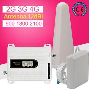 Image 2 - Amplificador de señal de teléfono móvil 2G, 3G, 4G, Triple banda, 70dB, GSM, 900, LTE, 1800, WCDMA, 2100 mhz