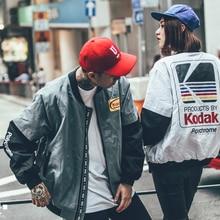 Японский хип-хоп стиль MA1 курточка бомбер Harajuku пилот уличная печать Kodak куртки для мужчин и женщин пальто брендовая одежда RS-266