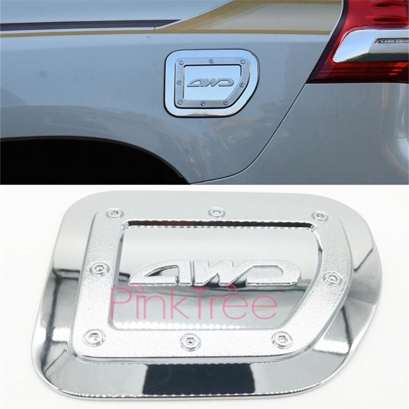 <font><b>Accessories</b></font> For <font><b>Toyota</b></font> Land Cruiser <font><b>Prado</b></font> LC150 FJ150 2010-2019 Chrome Fuel Tank Cover SUV Styling image