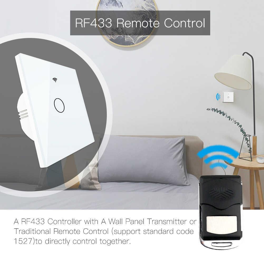WiFi akıllı cam Panel ışık anahtarı Tuya App uzaktan kumanda Alexa Echo ile çalışmak Google ev RF433 ab tipi dokunmatik 1 /2/3 Gang