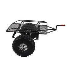 Metal Trailer Bucket RC Simulation Climbing Car for TRX4 TRX-4 1/10 D90 SCX10 CC01 DIY Parts with 1.9 metal wheels mato kingtiger metal upgraded road wheels with bearings and metal cap for 1 16 henglong 3888 1 3888a 1 king tiger rc tank parts