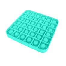 Popit Fidget Toy Push Bubble Fidget giocattolo sensoriale autismo esigenze speciali antistress e aumento della messa a fuoco morbido giocattolo antistress