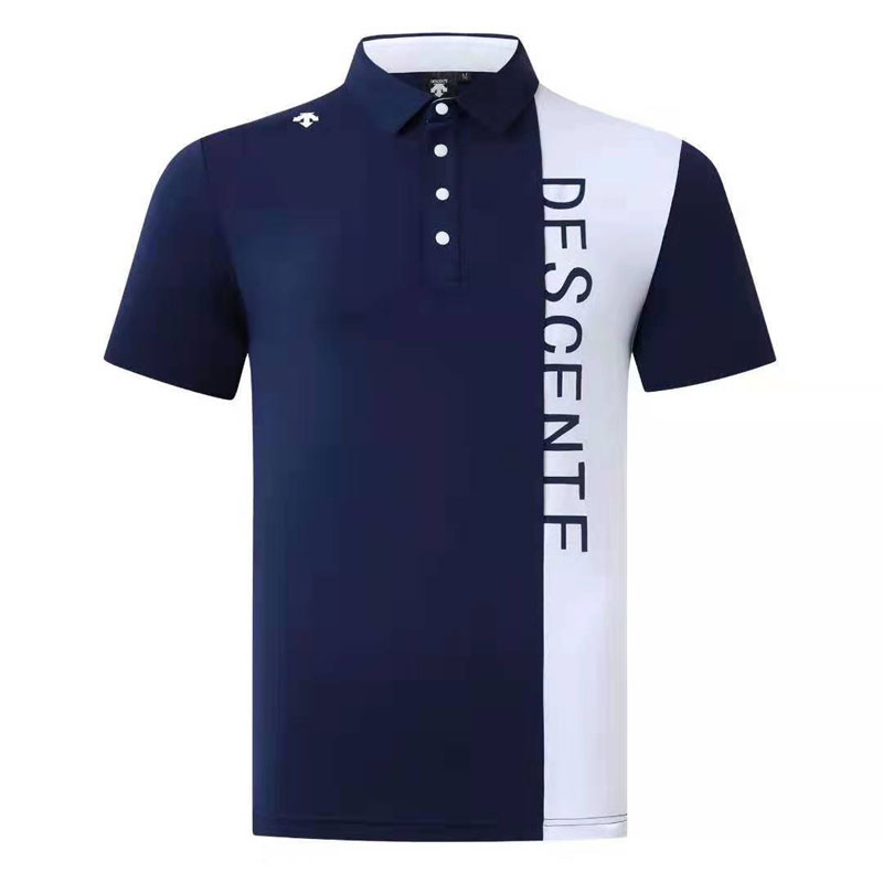 Mens Golf Shirts Descente Golf Wear Solid Color Golf Clothing Short Sleeve Leisure Quick-drying Breathable T Shir 2019