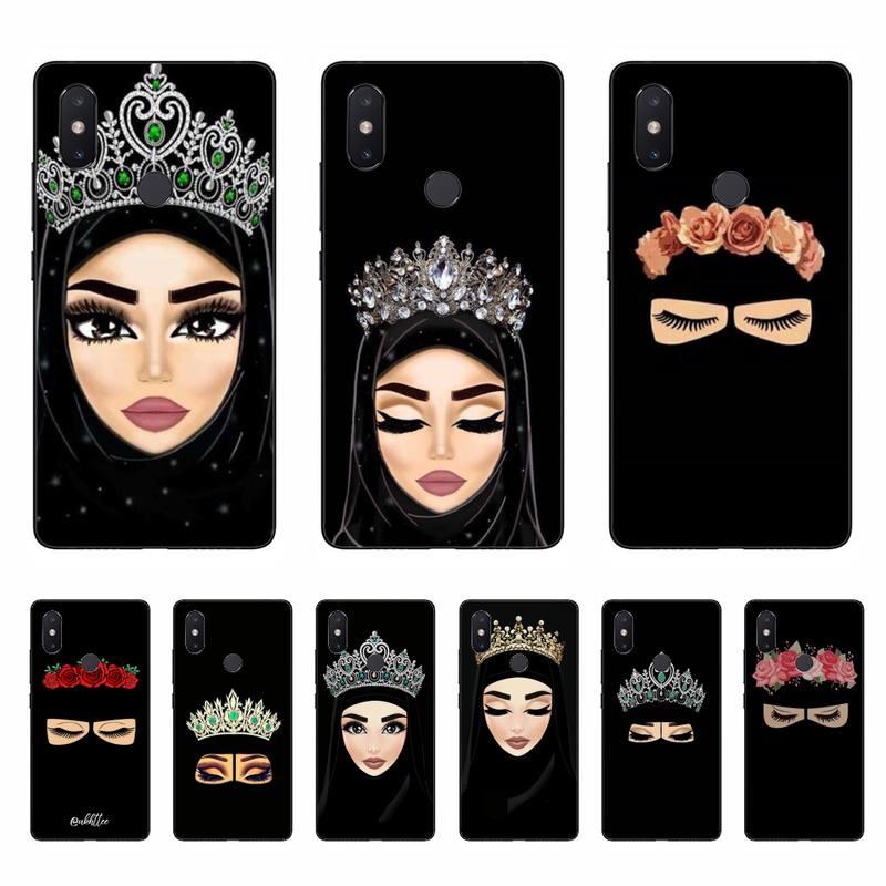 Yinuoda Woman In Hijab Face Muslim Islamic Phone Case Cover For Xiaomi mi5 6 5X 6X Mi9 9SE mi8lite Mi10 Mi10Pro Pocophone F1