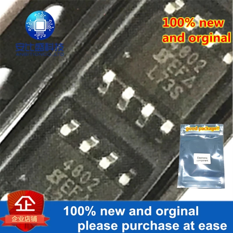 10pcs 100% New And Orginal SI4802DY-T1-E3 SOP-8 SI4802 4802 30V 6.1A In Stock.webp