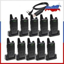 10 sztuk MINI ręczny nadajnik FM WLN KD C1 plus Walkie Talkie 400 470MHz dwukierunkowe Radio Ham stacja radiowa WLN KD C1plus