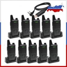 10PCS MINI Handheld FM Transceiver WLN KD C1 plus Walkie Talkie 400 470MHz Two Way Radio  Ham Radio Station WLN KD C1plus