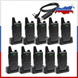 Image 1 - 10PCS MINI Handheld FM WLN KD C1 Plus Walkie Talkie 400 470MHz Two WayวิทยุสถานีWLN KD C1plus