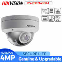 Hikvision DS-2CD2143G0-I version anglaise 4MP IR mini dôme réseau caméra IP CCTV POE 30m IR H.265 + IK10 caméra de sécurité