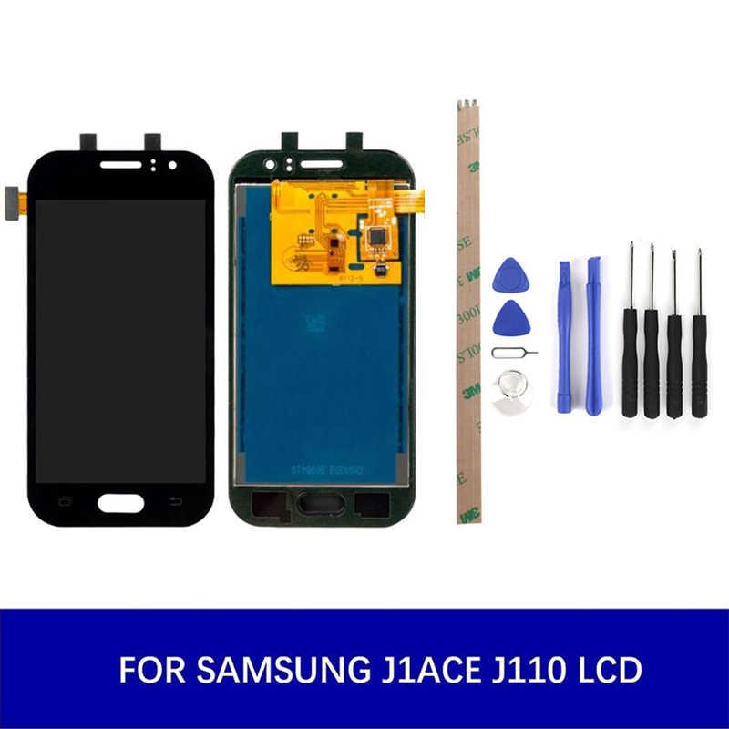 قابل للتعديل سطوع لسامسونج غالاكسي J1ACE J110FH LCD مجموعة رقمنة اللمس قطع غيار الشاشة TFT/oled