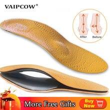 Skórzana wkładka ortopedyczna do płaskostopie sklepienie łukowe buty ortopedyczne podeszwy wkładki do stóp odpowiednie mężczyźni kobiety dzieci O/X noga
