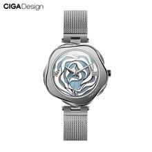 Ciga Ontwerp Horloge Denemarken Rose Vrouwen Automatische Mechanische Of Quartz Horloge Rvs Case Japan Beweging Uurwerk