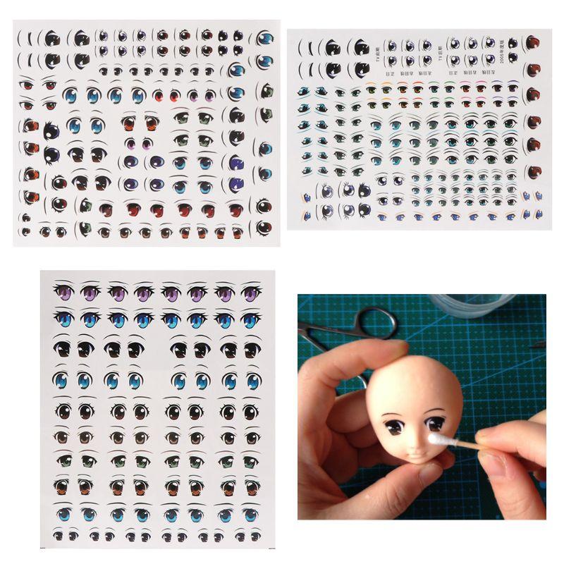 Cute Cartoon Eyes Anime Figurine Dolls Eye Water Stickers For DIY Doll Accessories