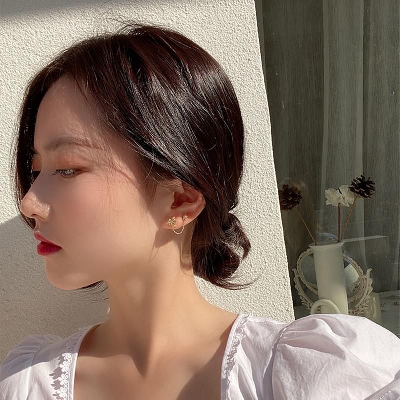 Купить женские серьги подвески в виде бабочек mengjiqiao корейские