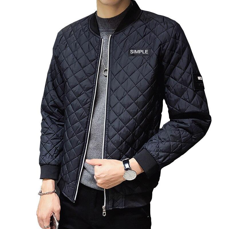 Fashion Men Coat Parkas Slim Fit Custom Parkas Crease Design Long Stylish Luxury Stand Collar 6XL Parkas Mens Autumn Light Homme