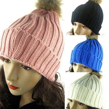 Women Winter Warm Hats Braided Crochet Knitting Hat Girl Beret Ski Beanie Ball Cap Skullies Beanies