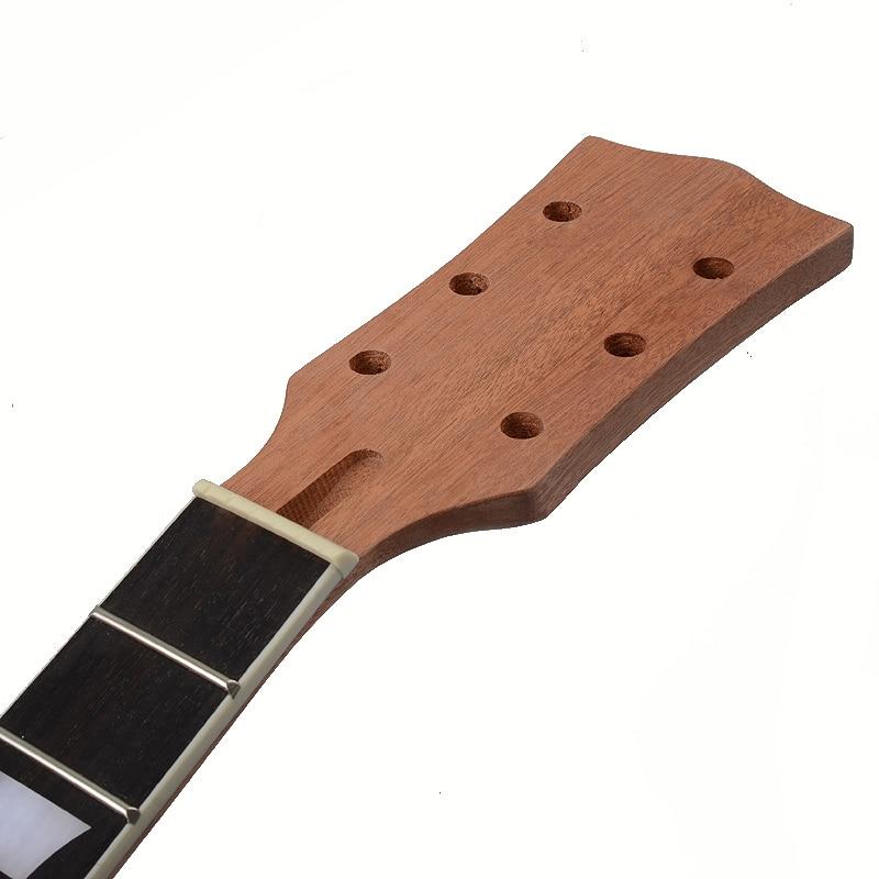 22 secteur de touche de palissandre d'acajou de cou de guitare de Lp de Fret et incrustation de liaison pour le remplacement de cou de guitare électrique de Lp - 6