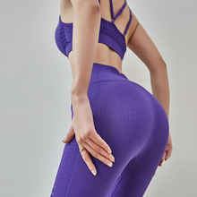 2019 Net red fitness pants sports high waist yoga pants women tight stretch bell