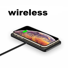 QI wireless charger Pad สำหรับ iPhone XR XS ได้อย่างรวดเร็วชาร์จแท่นวางแผงควบคุมสำหรับ samsung iPhone 8 11 pro xiaomi