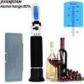 Tragbare Hand 0 80% alkoholometer Alkohol refraktometer schnaps Inhalt Tester mit einzelhandel box wein Messen Werkzeug 35% off-in Refraktometer aus Werkzeug bei