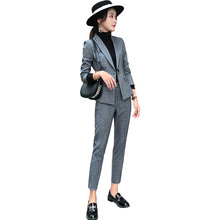 Women Pant Suits Formal New Winter Long-Sleeve Suit
